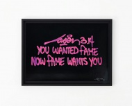 You Wanted Fame Now Fame Wants You - purple