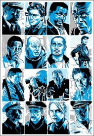 Artist Tim Doyle's long-out-of-print poster set featuring just about EVERY single character from the TV show- THE WIRE, is now available as a part of Hero Complex Gallery's 'I AM THE LAW' show currently on display!