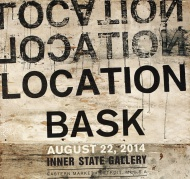 """Location Location Location by BASK Opening at 7pm Friday August 22nd, Inner State Gallery welcomes Czech-born agent provocateur and vandal Ales """"Bask"""" Hostomsky as he returns to Detroit for his first solo exhibition in over 2 years. An entirely new body of work """"Location, Location, Location"""" showcases Bask's blend of graffiti, punk and DIY styles into his latest exploration of Detroit textures and landscapes.  Join us from 7-10pm for an artist welcoming reception and opening night extravaganza.  $150 on up"""