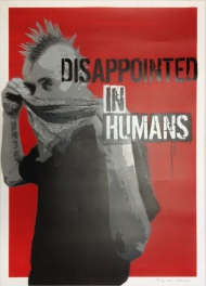 Czarnobyl X-ter & Pisa73: Disappointed in Humans #19 // Spraypaint and acrylics on paper, 50x70, signed, $240, http://shop.prettyportal.de/collections/frontpage/products/czarnobyl-x-ter-pisa73-disappointed-in-humans-19