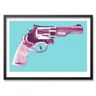 Razor Gun by Max Wiedemann 24 x 18 Inches 5-Color Screen Print on 130lbs Mohawk Vellum Fine Art Paper $65