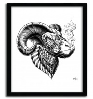 BIGHORN SHEEP by BIOWORKZ (USA). Serie of 50 Prints with certificate of authenticity signed.  Support : Fine Art Paper 300g Innova  Poster design by our workshop in Limoges (France). $43