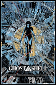 """I will sell some AP copies of Kilian Eng's stunning Ghost in the Shell poster tomorrow afternoon. It's a 24"""" x 36"""" screenprint, has an AP edition of 45, and will cost $60.   These go up Thursday, August 28th at 2pm Central Time."""
