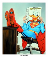 """""""You Are my Hero""""  by Michael Loeb 18.5""""x22"""" Print Size  $65  Limited Edition of 50  Hand Signed & Numbered  310 GSM German Etching"""