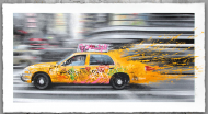 Going To NY by Mr Brainwash Announcing a new sixteen-color screen-print on hand torn archival art paper. Each print is signed and numbered, with a thumb print on the back.  Available Wednesday, September 3rd, at 12pm PDT  Print Size: 46in. x 25in. Edition of 100  Price: $500