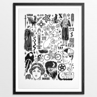 Mike Giant 4:20 - Limited Edition Prints Part of 4:20 - Prints + Original Artwork    Edition Size:   150 18 x 24 Inches Letter Press Print on Hand-Deckled 290gsm Coventry Rag Fine Art Paper $50