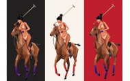Thoroughbred by Naturel 24 x 24 Inches Archival Pigment Prints - Also Available In 3-Print Set   $100