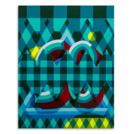 Trav Teal - Original Artwork  1 Available     11 x 14 Inches Letter Enamel on Wood Panel $ 500.00