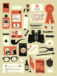 """The Little Friends of Printmaking """"Rushmore"""" (variant)  screen print signed and numbered  Edition of 100 $35"""