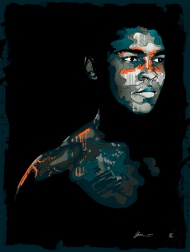 Mitch (aka Mitchy Bwoy) - Muhammad Ali One of the highlights of the first Scrawl book was a free poster, a glorious Muhammad Ali portrait designed by Mitch (aka Mitchy Bwoy). Finding a copy of the book with the poster still inside, intact, would be a miracle so it is with great pleasure that we can bring you this new Ali portrait by Mitch (aka Mitchy Bwoy). Printed on 270gsm vellum white archival stock. Signed and numbered by the artist.  Price£75.00 ($117.79)