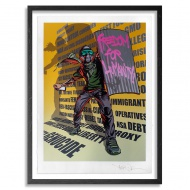 Freedom For Humanity by Mear One 20 x 27 Inches 14-Color Screen Print on Hand Deckled 290gsm Coventry Fine Art Paper  $125