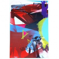 "$200.00 Artist: Adrian Falkner / Smash137 Title: 'Untitled' Description: 8 Color Silkscreen on Mohawk Via Vellum Size: 24"" x 36"" (61 cm x 92 cm) Edition: 70"