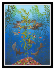 """Artist: Kozyndan   Title:""""Kelp Magic"""" Edition Size: 100 - signed & numbered Print Details: Fine-Art Giclée print on cold-press watercolor paper Dimensions:18"""" x 24"""" Printmaker:Hero Complex Gallery Price:$100 plus shipping & handling"""