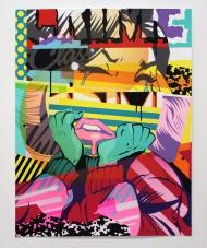 "Blot (2014) / Hand Embellished  500.00 Artist: Pose  Title: 'Blot' (2014) / Hand Embellished  Description: 15 Color Hand Pulled Screenprint on Mohawk Superfine Ultrawhite 160 lb Cover Paper  Size: 23"" x 30"" (59 cm x 77 cm)  Edition: 20"