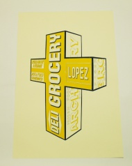 """A beautiful image from Gabriel, please scroll through the pictures to see the original sculpture.  The prints are hand touched silk screen prints in an edition of 10, 17"""" x 26"""" on cotton rag.  Each is hand finished and no 2 are alike.  Artist:  Gabriel Specter  Work:  'Grocery Deli'  Date:  2013  Size:  17 in x 26 in  Medium:  Screenprint on Cotton Rag.   Edition:  Edition of 10.  Signed.  £309.00 ($483.45)"""