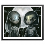 Young Greys by Ana Bagayan 18 x 15 Inches Archival Pigment Prints on 310gsm Fine Art Paper + Original Artwork $75