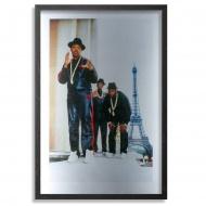 Run DMC - Paris - 1987 Aluminum Edition by Ricky Powell 12 x 18 Inches Archival Pigment Prints on Aluminum $125