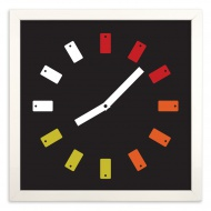 808 by Scott Grooves 12 x 12 Inches Framed 4-Color Screen Print on Fine Art Paper $88