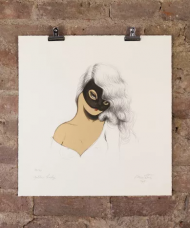 MISS VAN 'GOLDEN LADY' £195.00  EDITION OF:70 PROVENANCE:Hand signed by the artist. DIMENSIONS:50 x 52 cm MEDIUM: Screenprint PAPER:Somerset Soft Paper