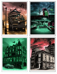 UNREAL ESTATE 4 ON SALE TODAY!  Today, Tuesday the 7th at NOON (12pm) Central Time, SpokeArt will be releasing all remaining copies of both the regular and variant edition prints from Tim Doyle's UnReal Estate 4!  From $40