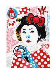 """""""PRINCESS OF POLKA DOTS"""" Limited edition giclee print by MR.FRIVOLOUS."""