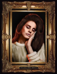 """LANA DEL REY Tour 2015 Artwork by Kii Arens 18"""" x 24"""" • Lithograph with Actual Black Velvet Signed/Numbered series of 100 $60"""